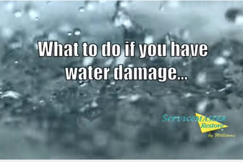what to do if you have water damage